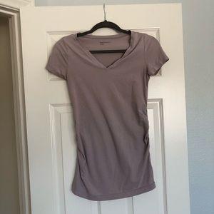Gap Maternity Side Ruched Short sleeve v-neck top